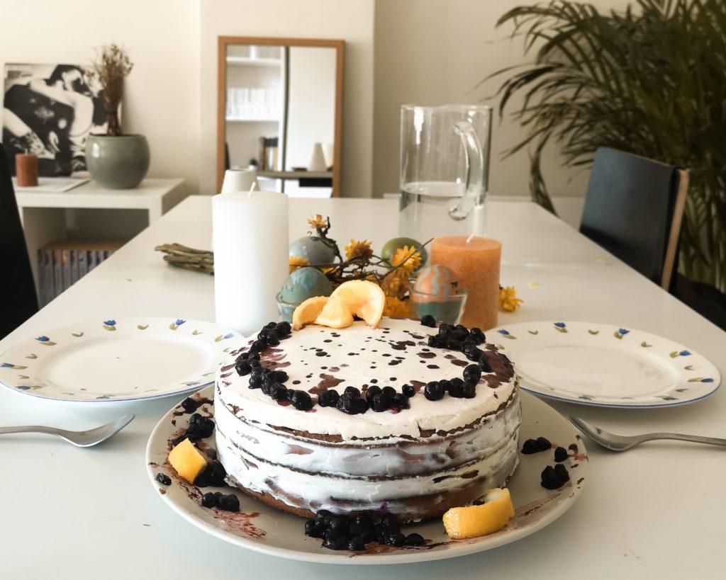 gâteau myrtille citron